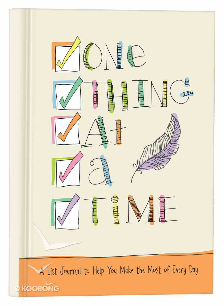 Signature Journal: One Thing At a Time Hardback
