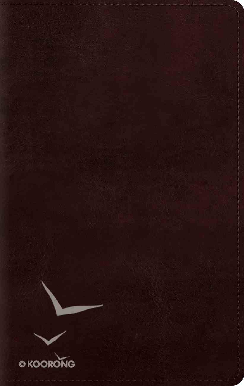 ESV Large Print Personal Size Bible Mahogany Red Letter Edition Imitation Leather