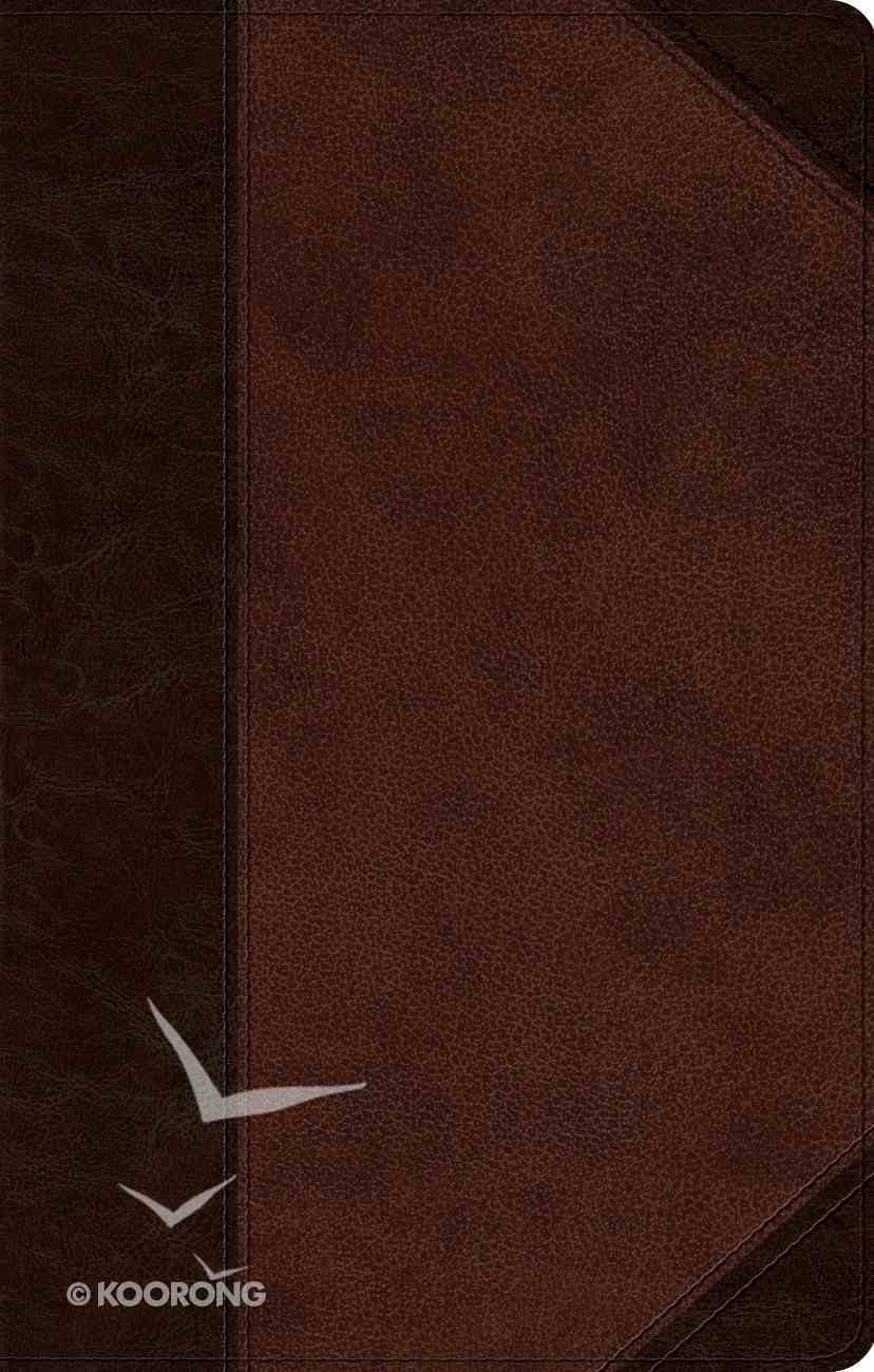 ESV Ultrathin Bible Brown/Walnut Portfolio Design (Black Letter Edition) Imitation Leather