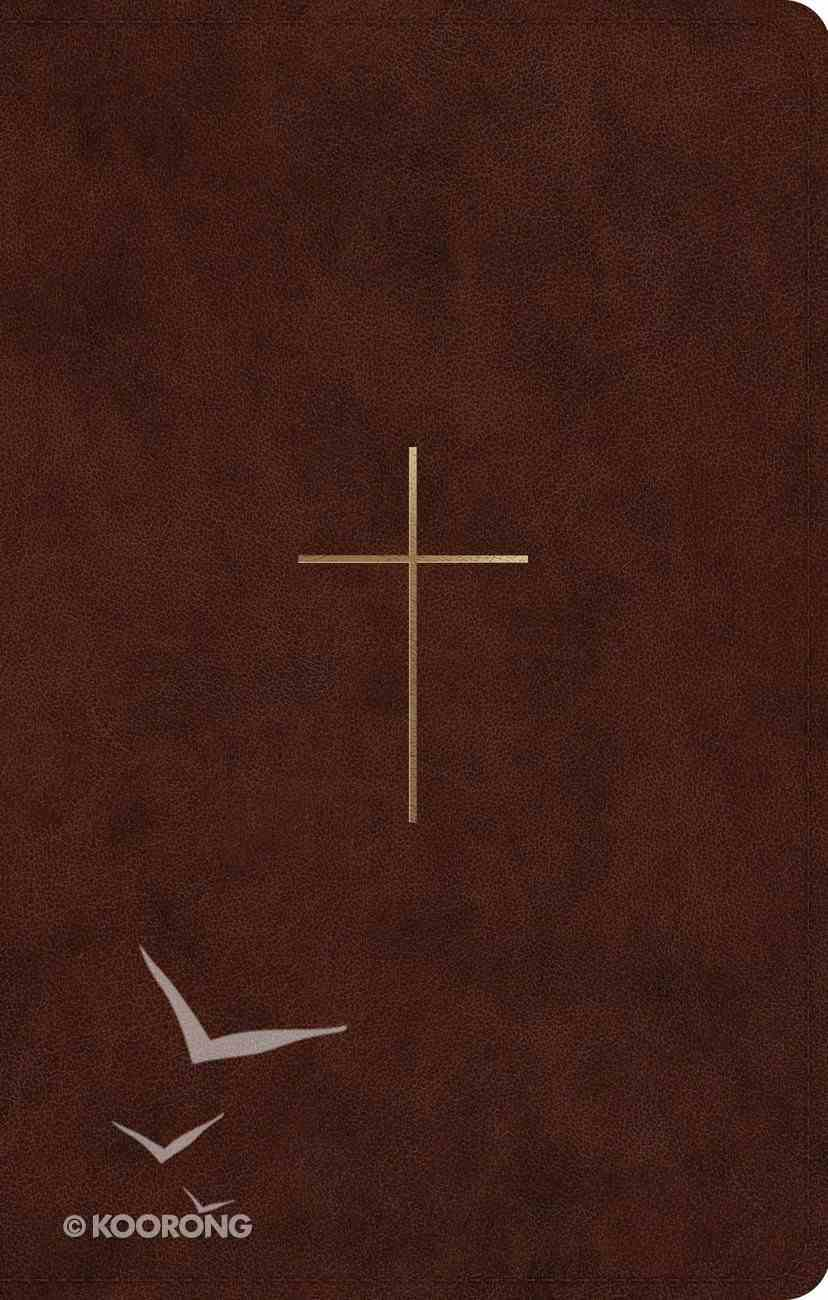 ESV Ultrathin Bible Brown Cross Design (Black Letter Edition) Imitation Leather