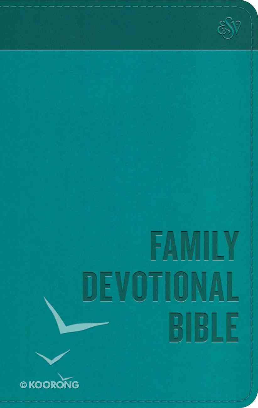 ESV Family Devotional Bible Blue (Black Letter Edition) Imitation Leather