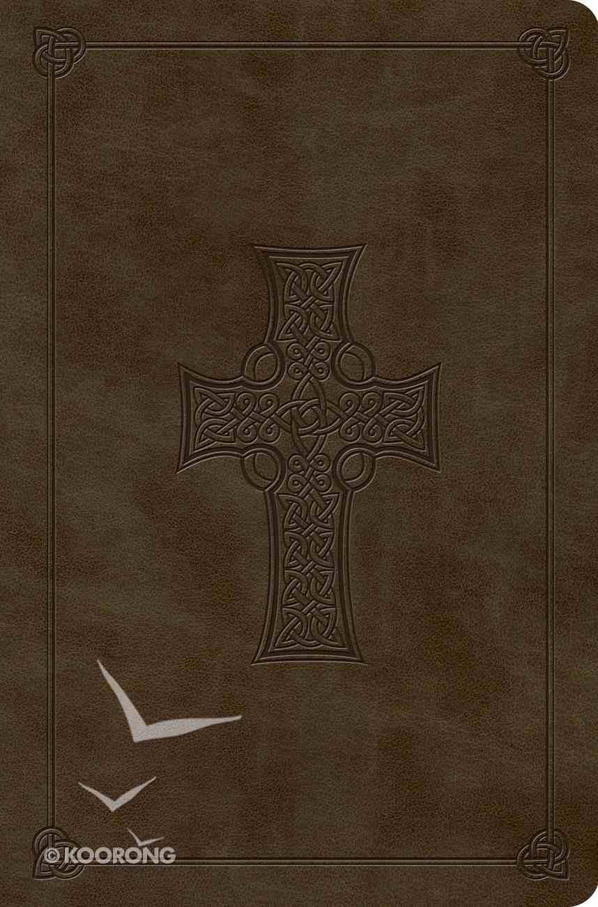ESV Compact Outreach Bible Premium Edition Olive Celtic Cross Design (Black Letter Edition) Imitation Leather