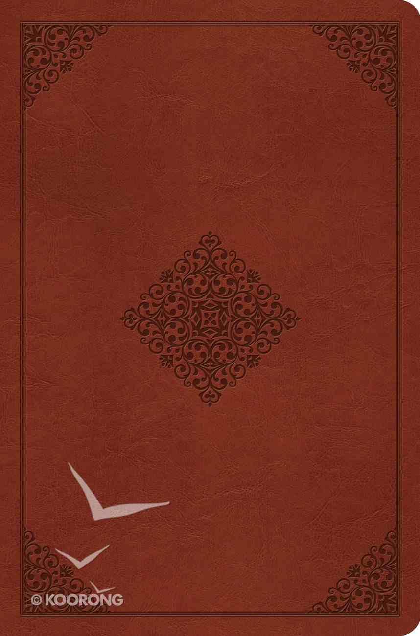 ESV Compact Outreach Bible Premium Edition Saddle Ornament Design (Black Letter Edition) Imitation Leather