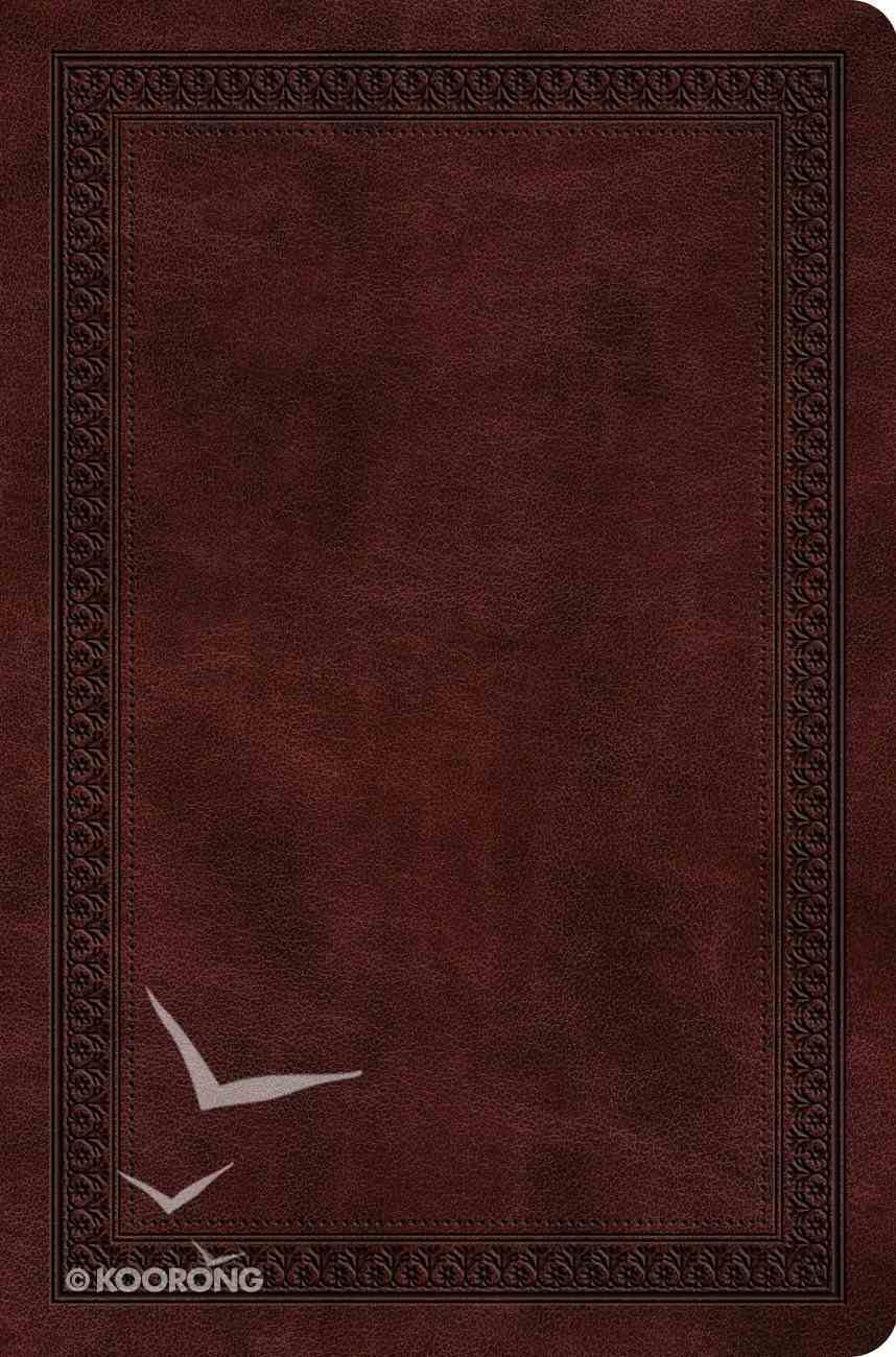 ESV Value Compact Bible Mahogany Border Design (Black Letter Edition) Imitation Leather