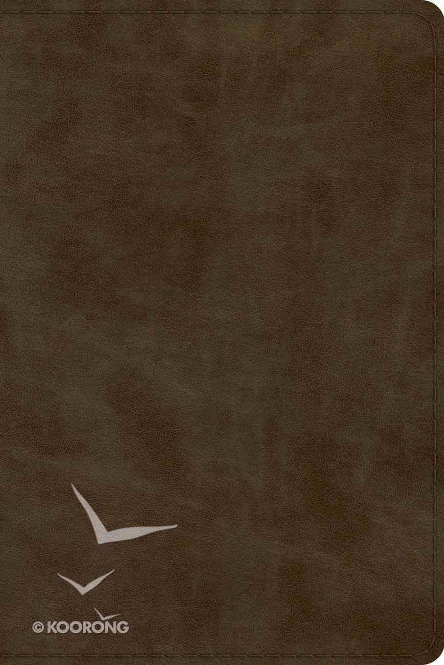 ESV Study Bible Personal Size Olive (Black Letter Edition) Imitation Leather