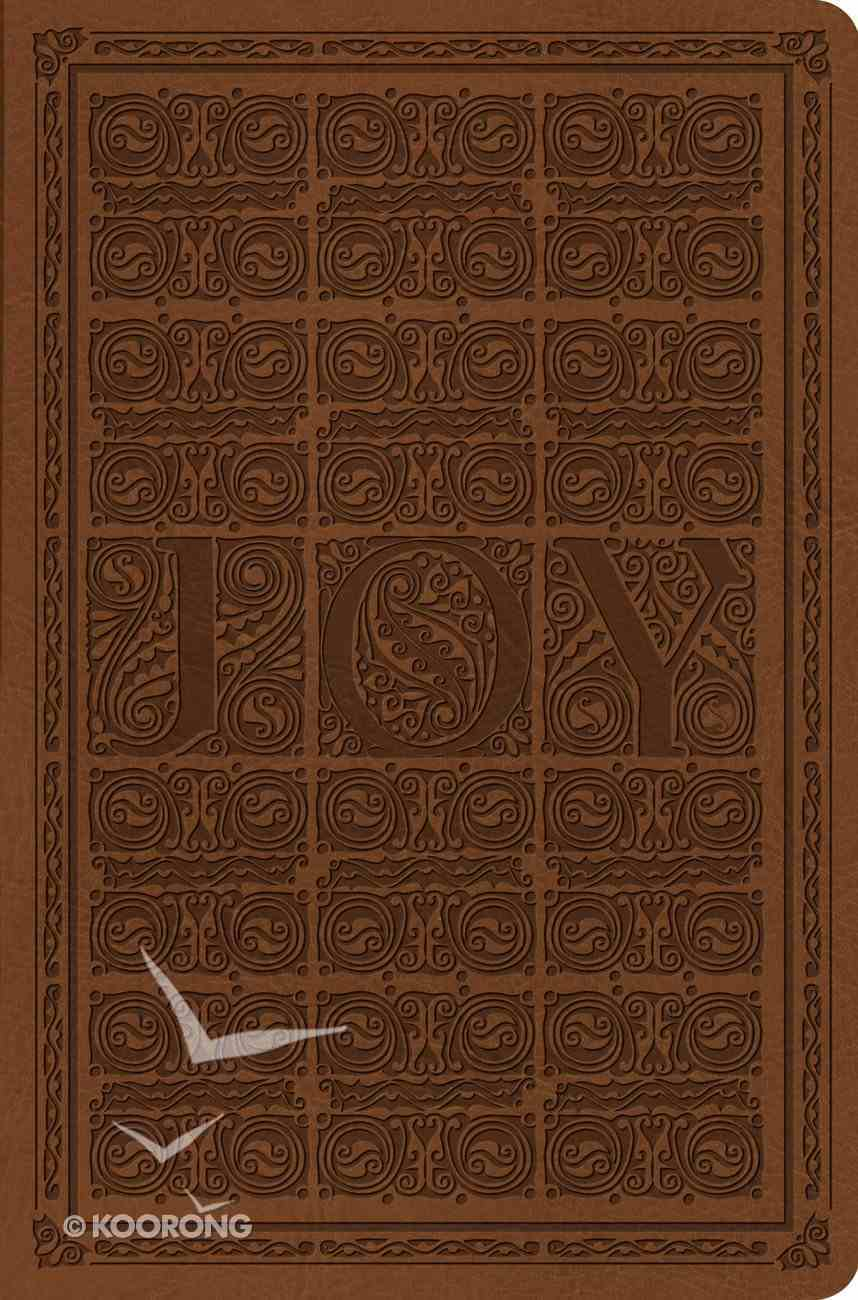 ESV Value Compact Bible Brown Joy Woodcut Design (Black Letter Edition) Imitation Leather