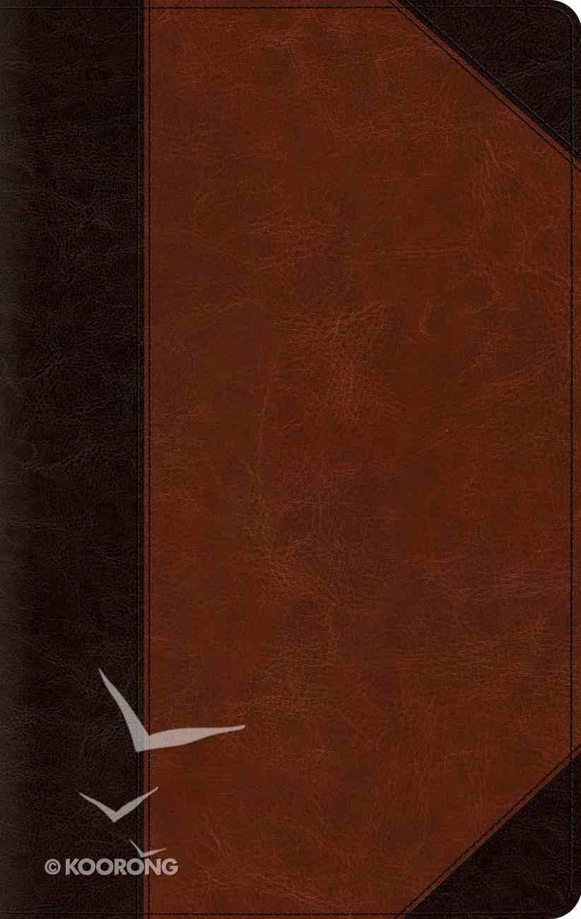 ESV Large Print Thinline Bible Brown/Cordovan Portfolio Design (Black Letter Edition) Imitation Leather