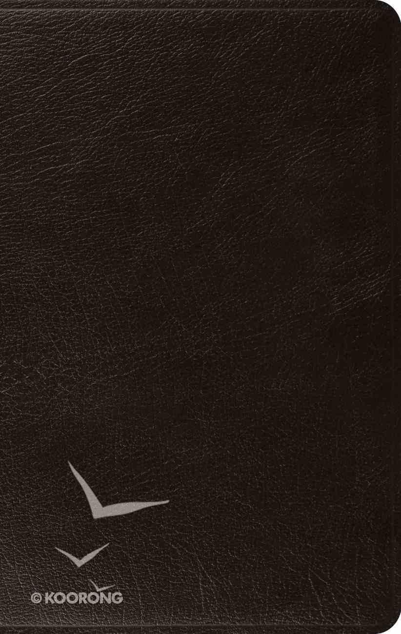 ESV Large Print Thinline Bible Black (Black Letter Edition) Genuine Leather