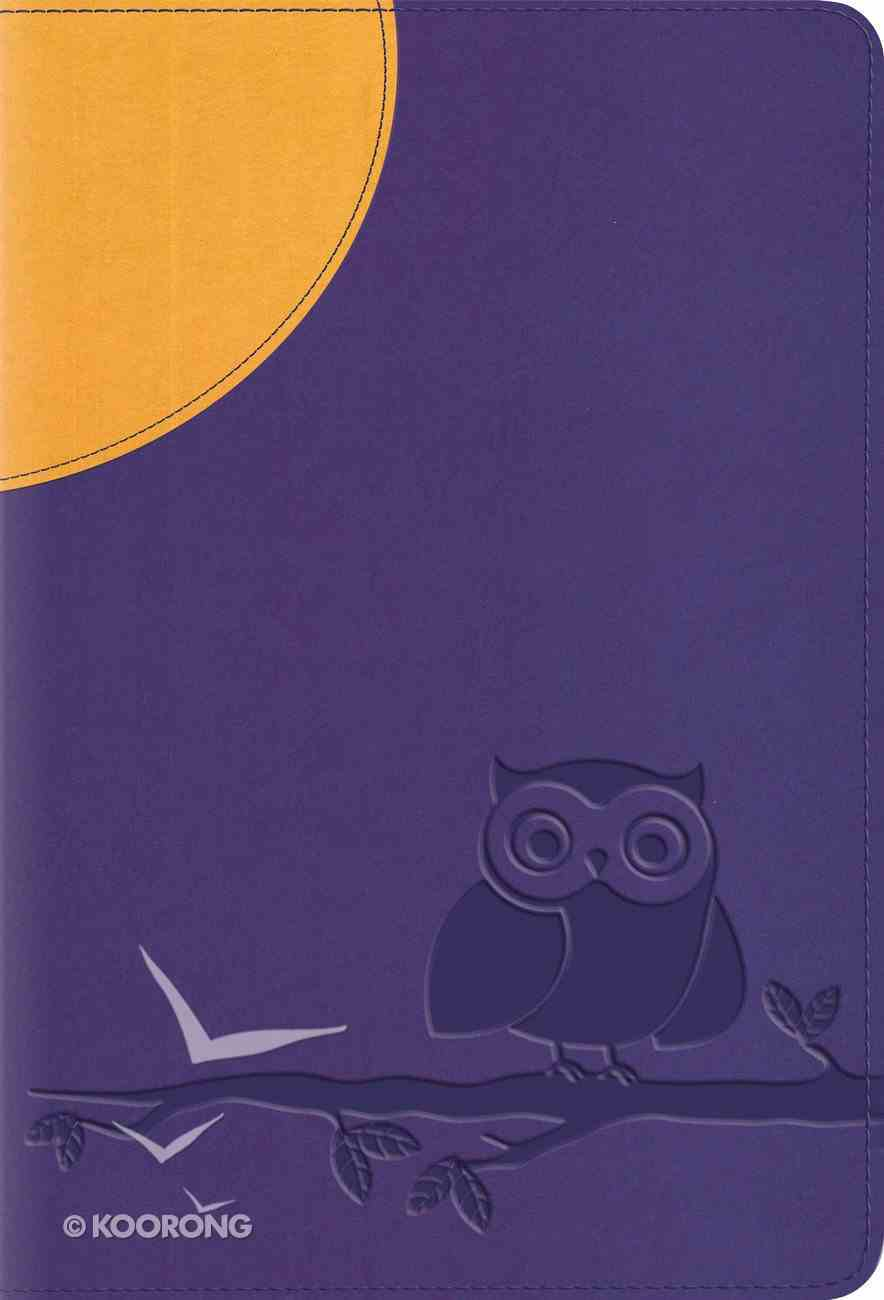 ESV Large Print Compact Bible Moonlight Owl Red Letter Edition Imitation Leather