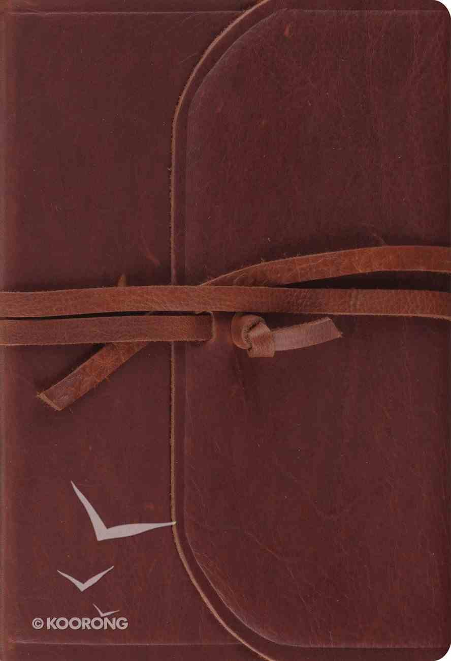 ESV Student Study Bible Brown Flap With Strap (Black Letter Edition) Genuine Leather