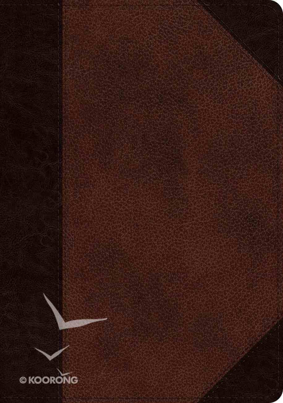 ESV Single Column Journaling Bible Large Print Brown/Walnut Portfolio Design (Black Letter Edition) Imitation Leather
