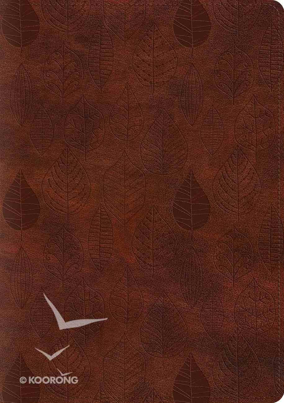 ESV Single Column Journaling Bible Large Print Trutone Chestnut Leaves Design (Black Letter Edition) Imitation Leather