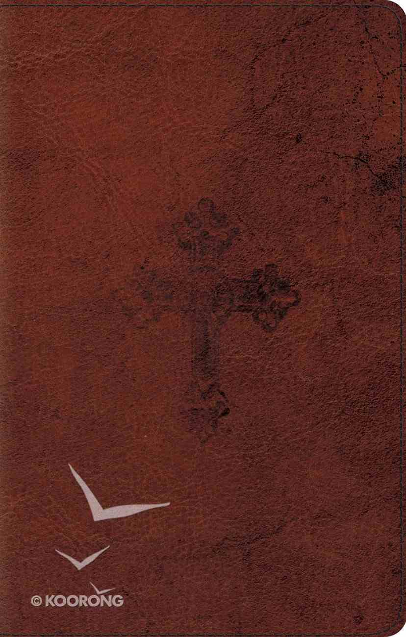 ESV Ultrathin Bible Walnut Weathered Cross Design (Black Letter Edition) Imitation Leather