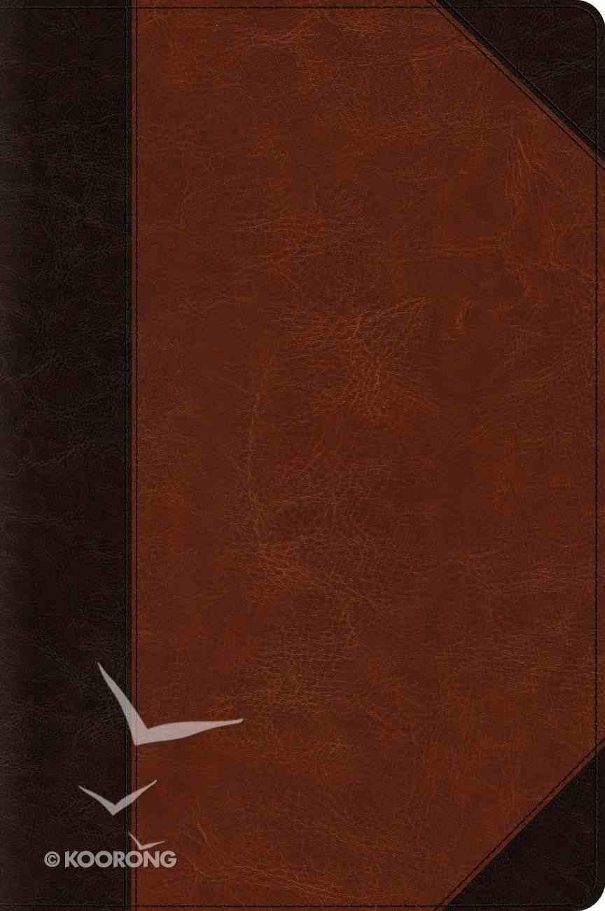 ESV Large Print Bible Brown/Cordovan Portfolio Design (Black Letter Edition) Imitation Leather