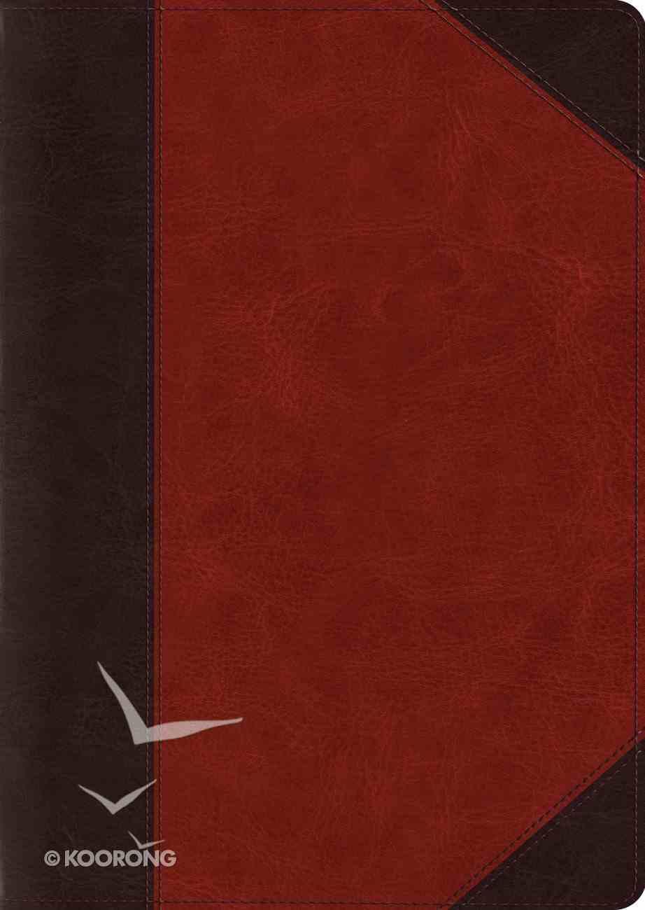 ESV Study Bible Large Print Brown/Cordovan Portfolio Design (Black Letter Edition) Imitation Leather