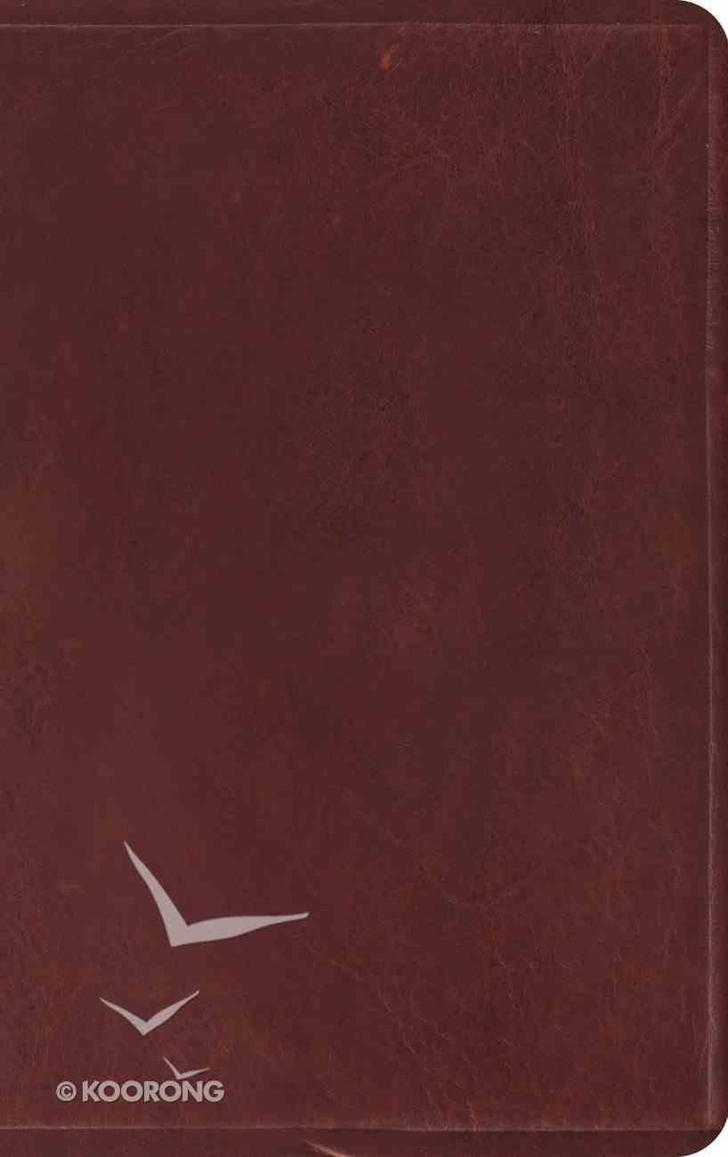 ESV Thinline Bible Brown (Red Letter Edition) Genuine Leather