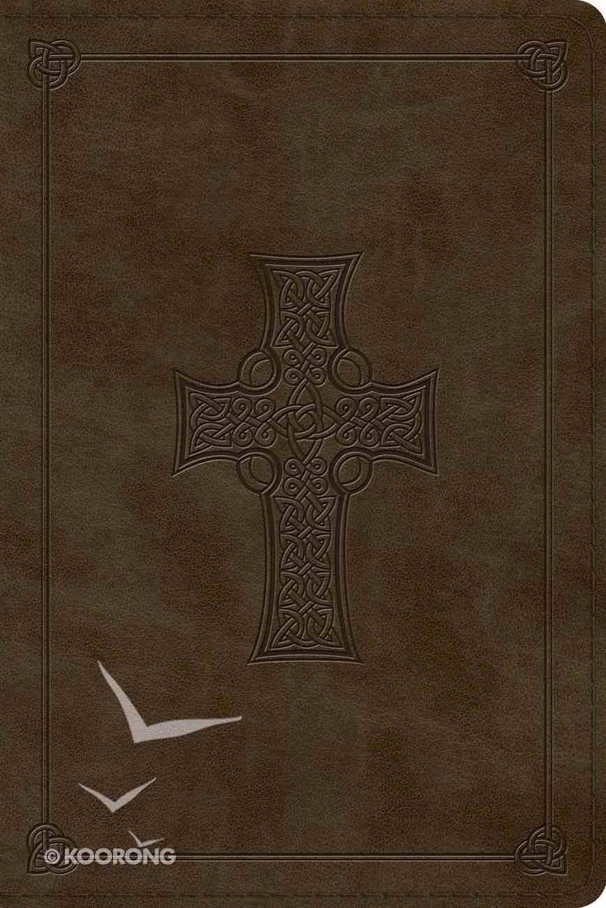 ESV Personal Reference Bible Olive Celtic Cross Design (Black Letter Edition) Imitation Leather