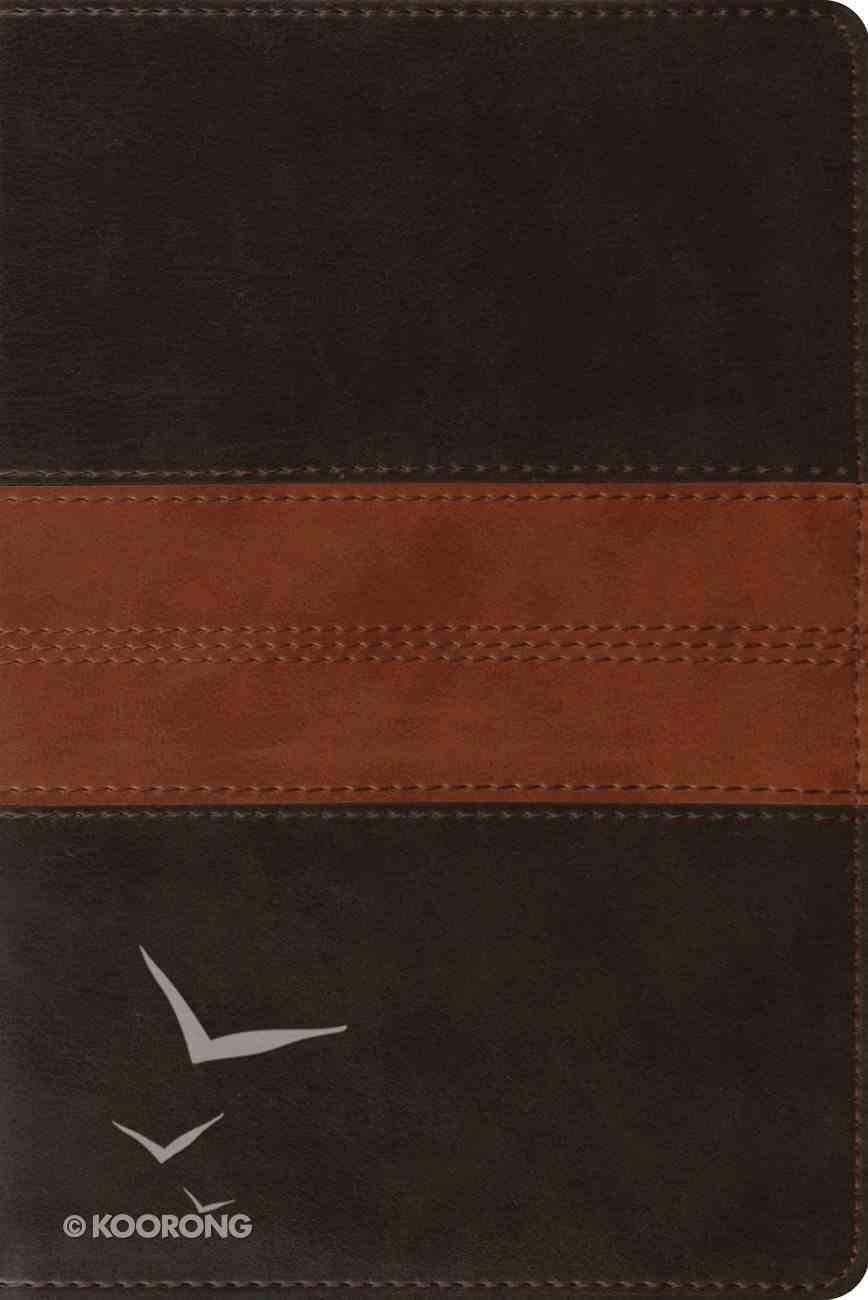 ESV Personal Reference Bible Deep Brown/Tan Trail Design (Black Letter Edition) Imitation Leather