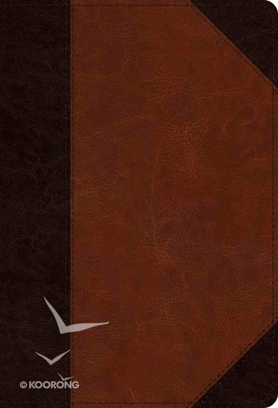 ESV Large Print Compact Bible Brown/Cordovan Portfolio Design (Red Letter Edition) Imitation Leather