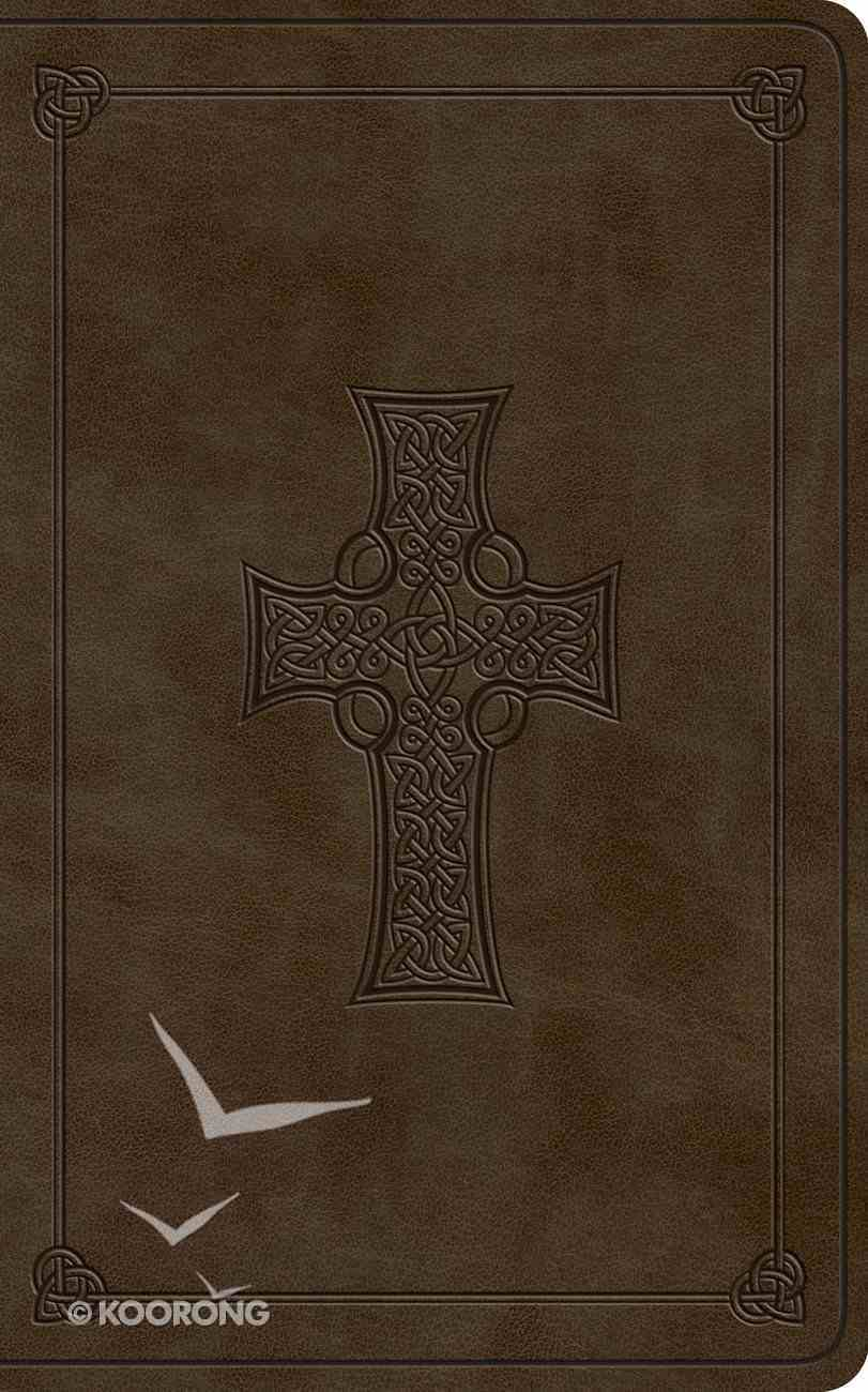 ESV Vest Pocket New Testament With Psalms and Proverbs Olive Celtic Cross Design (Black Letter Edition) Imitation Leather