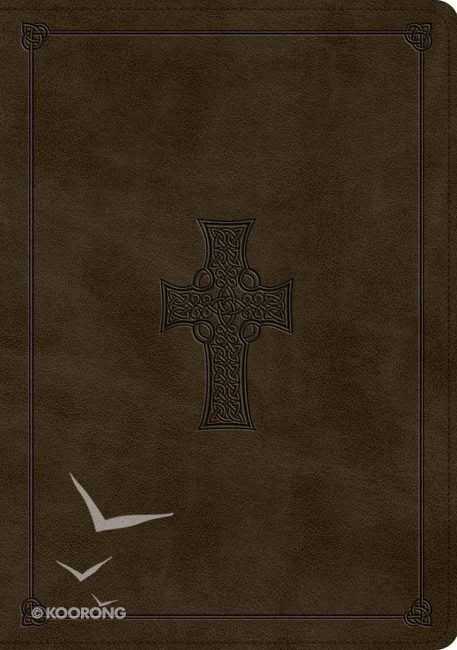 ESV Study Bible Olive Celtic Cross Design (Black Letter Edition) Imitation Leather