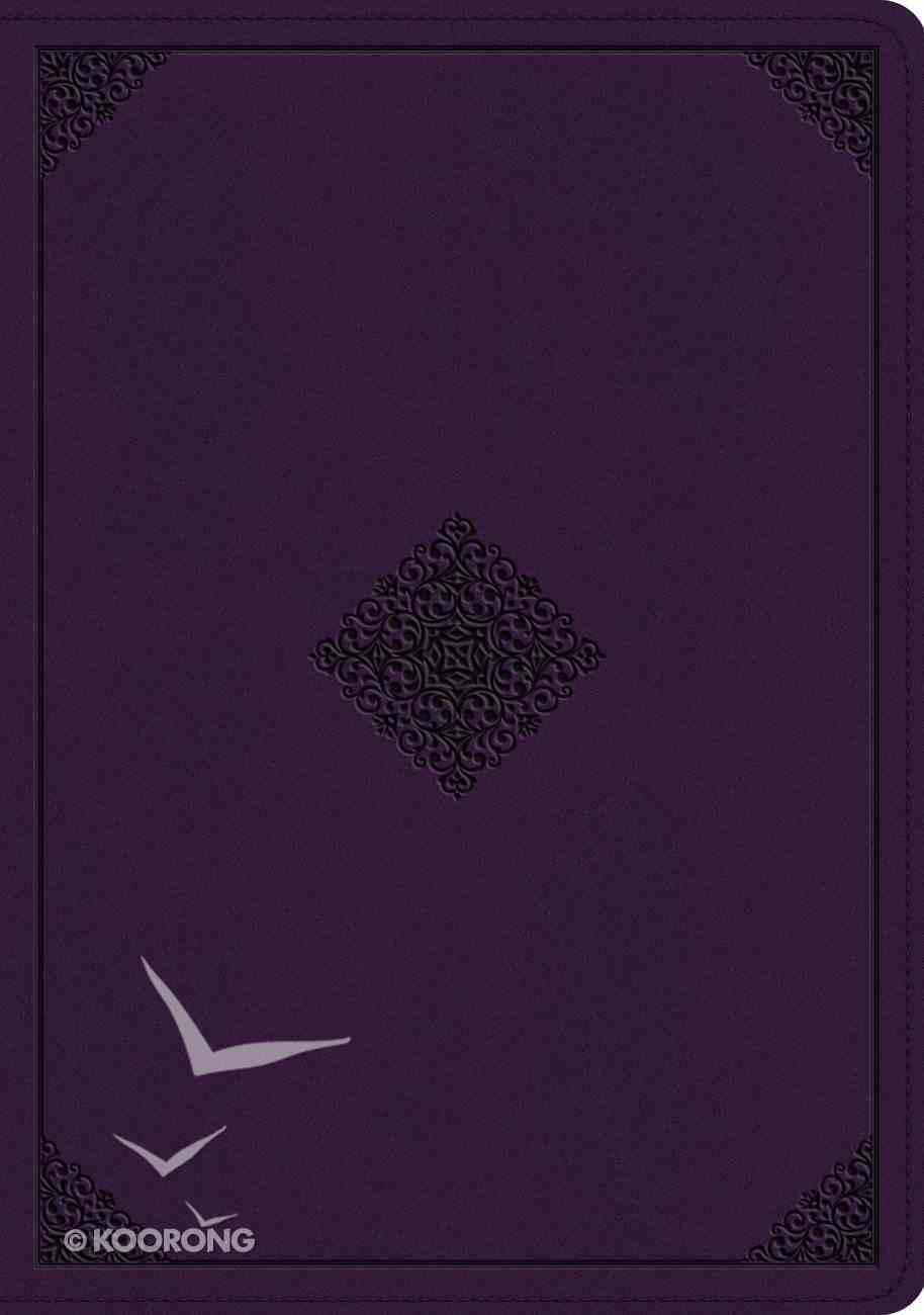ESV Study Bible Lavendar Ornament Design (Black Letter Edition) Imitation Leather