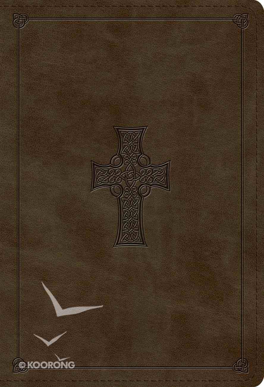 ESV Student Study Bible Olive Celtic Cross Design (Black Letter Edition) Imitation Leather
