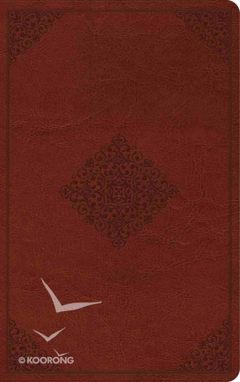ESV Thinline Reference Bible Tan Ornament Design (Black Letter Edition) Imitation Leather
