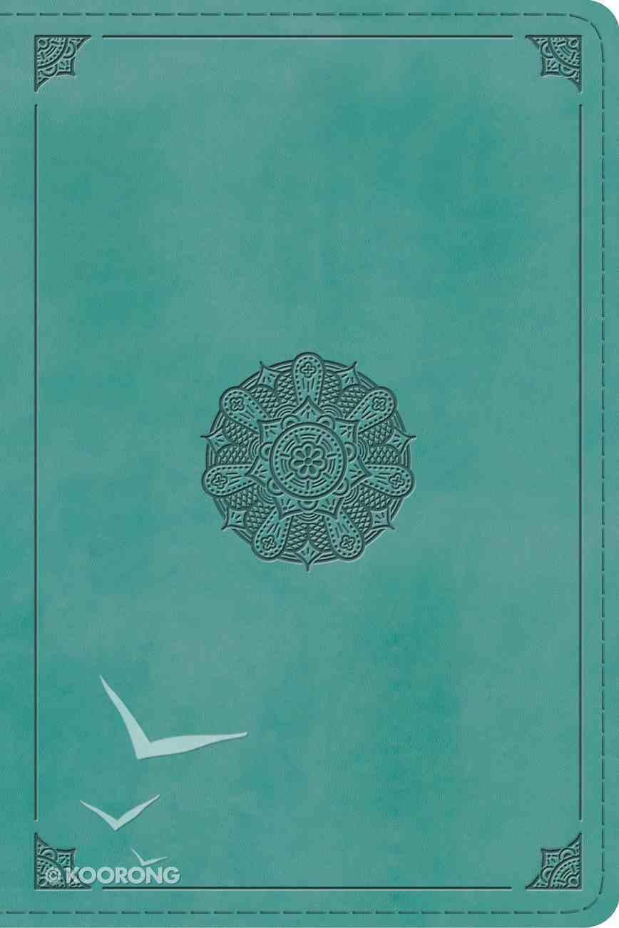 ESV Study Bible Personal Size Turquoise Emblem Design (Black Letter Edition) Imitation Leather