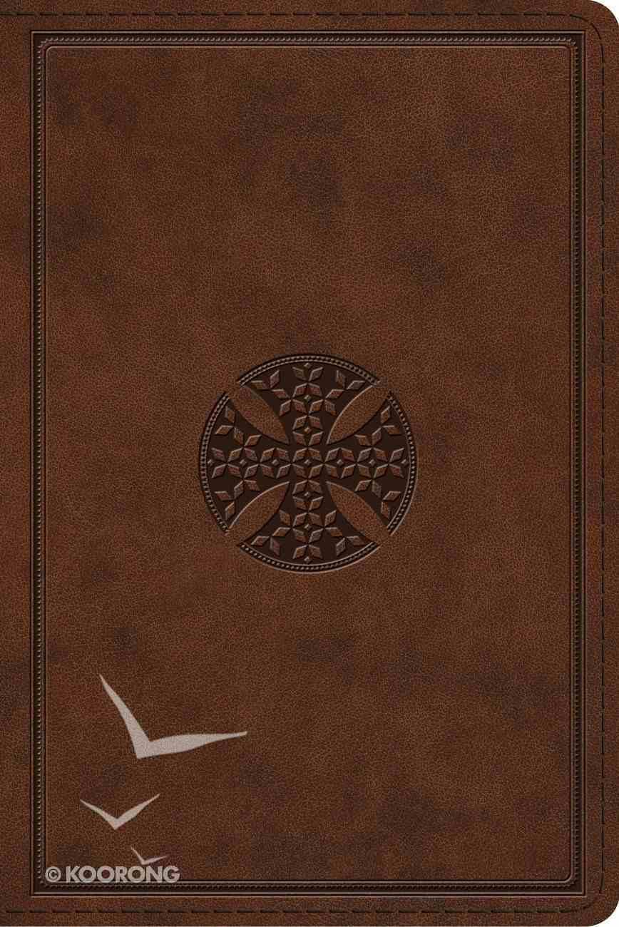 ESV Study Bible Personal Size Brown Mosaic Cross Design (Black Letter Edition) Imitation Leather