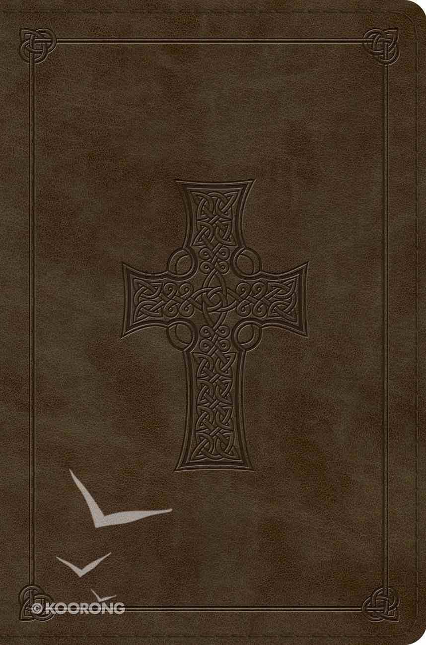 ESV Compact Bible Olive Celtic Cross Design Imitation Leather