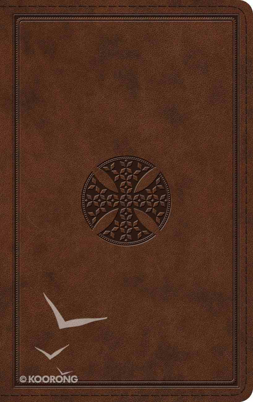 ESV Thinline Bible Brown Mosaic Cross Design (Red Letter Edition) Imitation Leather