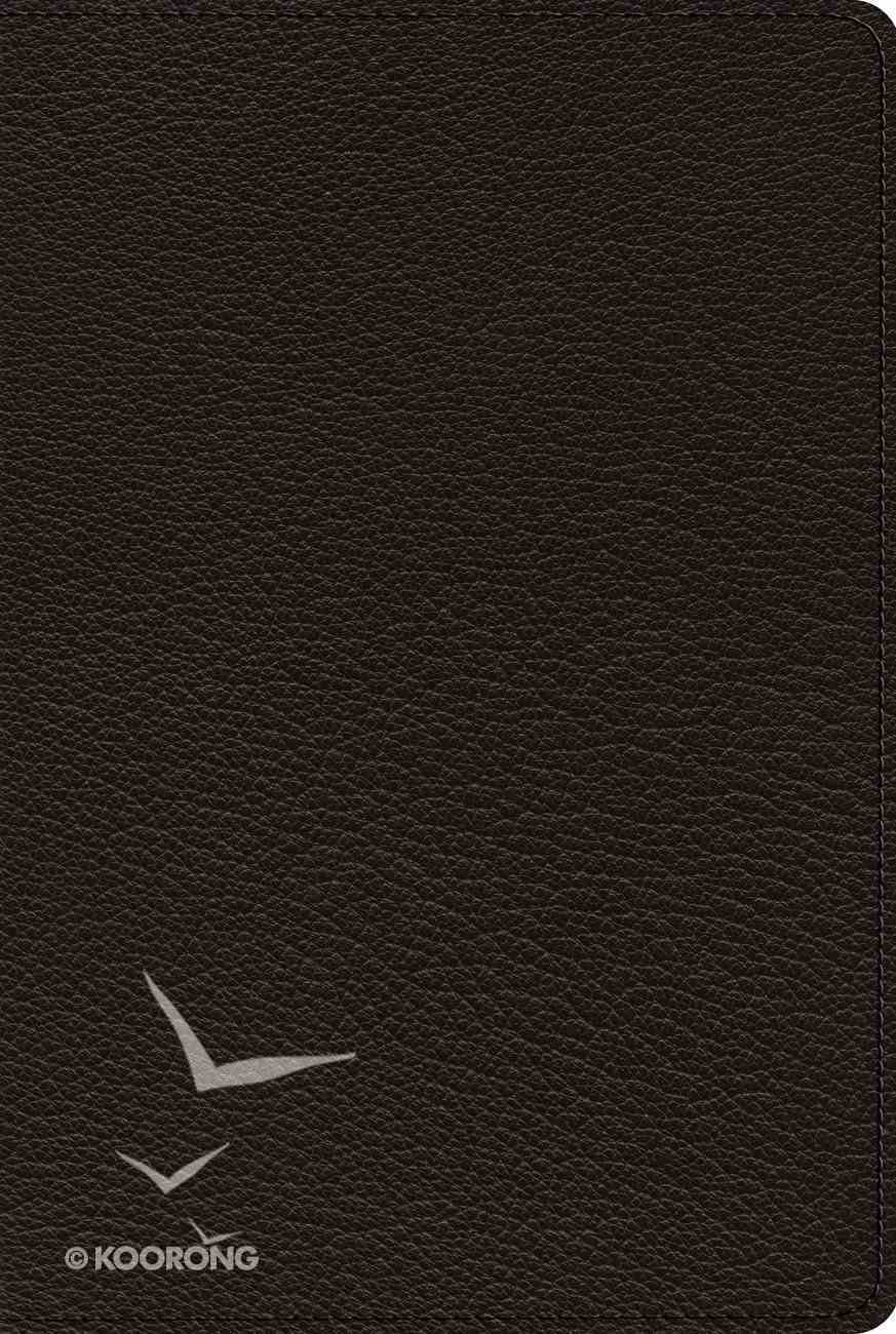 ESV Omega Thinline Reference Bible 80Th Anniversary Edition Black (Black Letter Edition) Genuine Leather