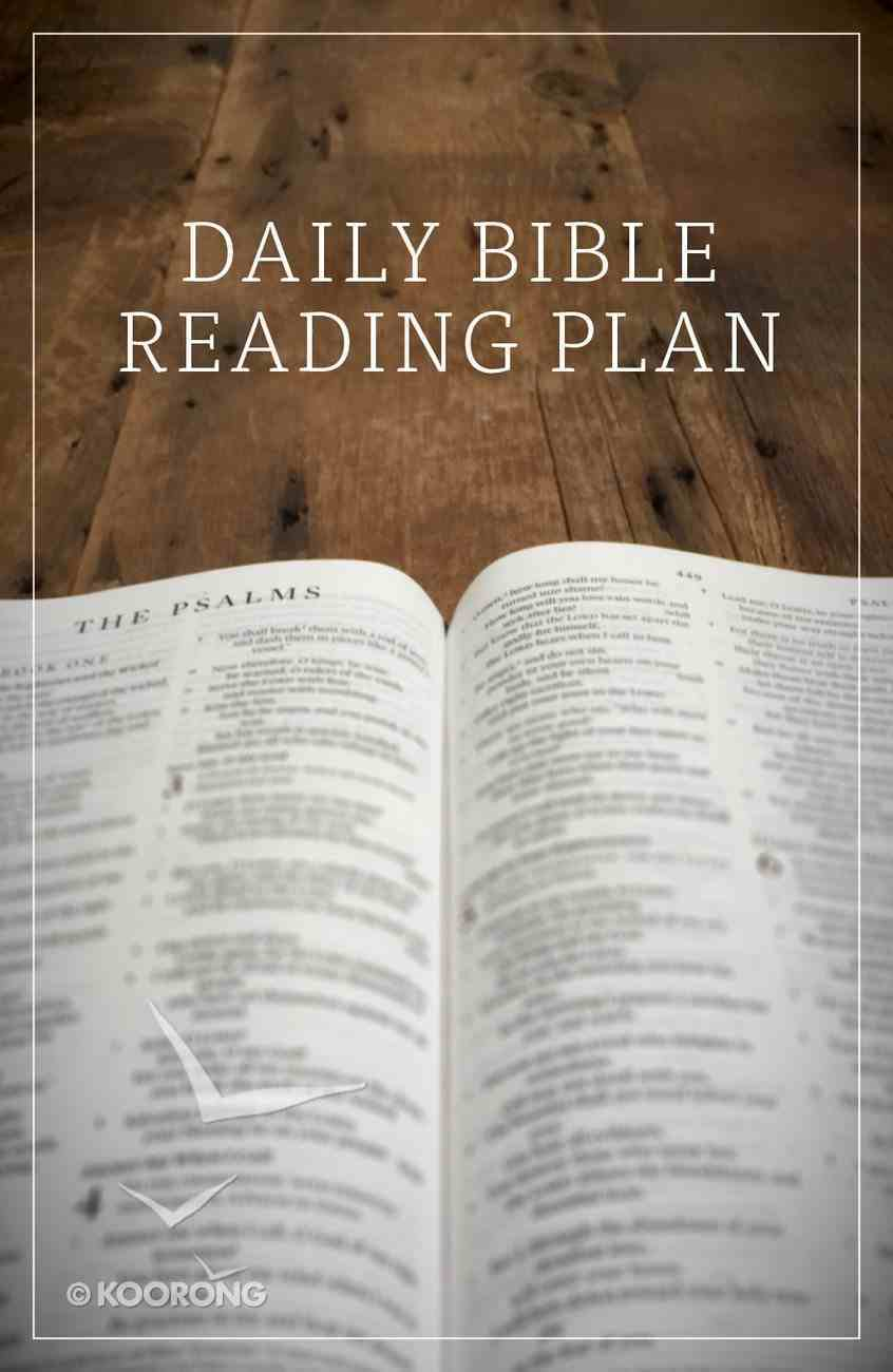 Daily Bible Reading Plan (ESV) (Pack Of 25) Booklet