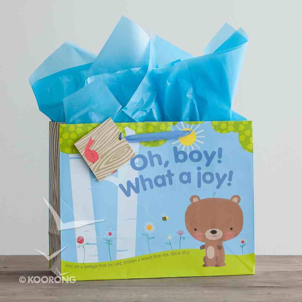 Gift Bag Large: Oh, Boy! What a Joy! (Incl Tissue Paper & Gift Tag) Stationery