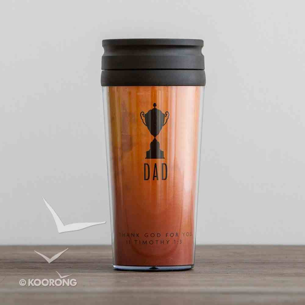 Travel Mug: Trophy Dad (2 Timothy 1:8 NLT) (Orange) Homeware