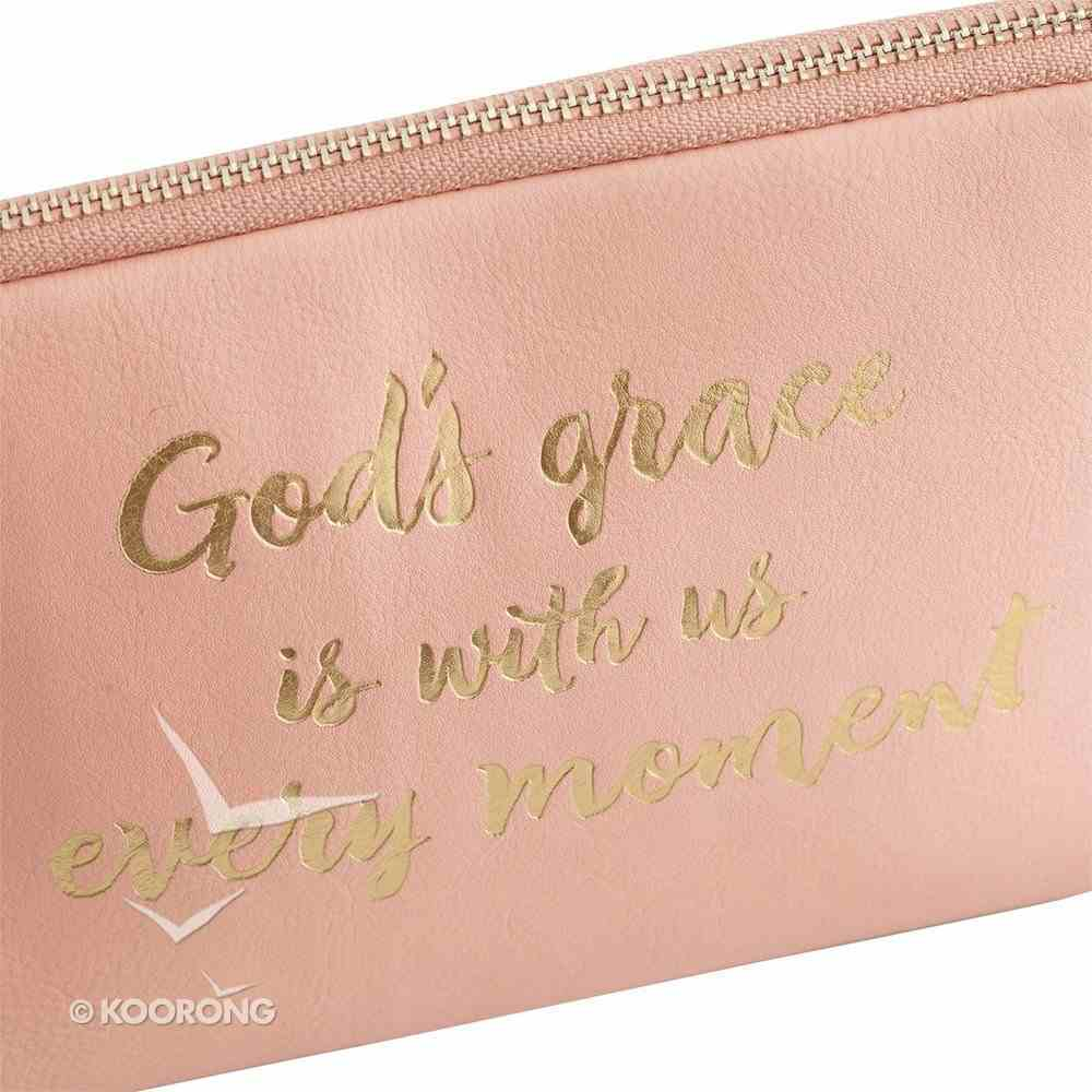 Cosmetic Bag: God's Grace is With Us Every Moment, Peach/Gold Writing ( ((In)courage Gift Product Series) Soft Goods