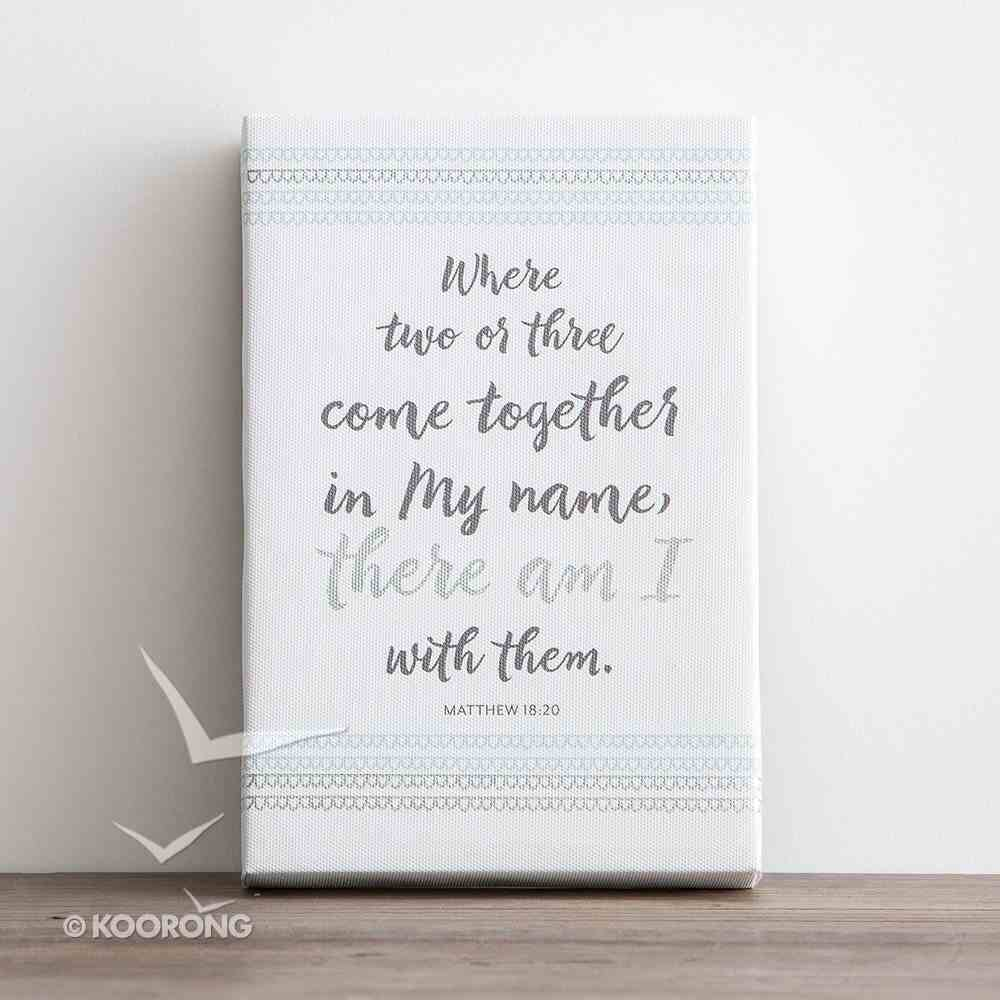 Canvas Wall Art: In My Name.... Silver Foil ((In)courage Gift Product Series) Plaque