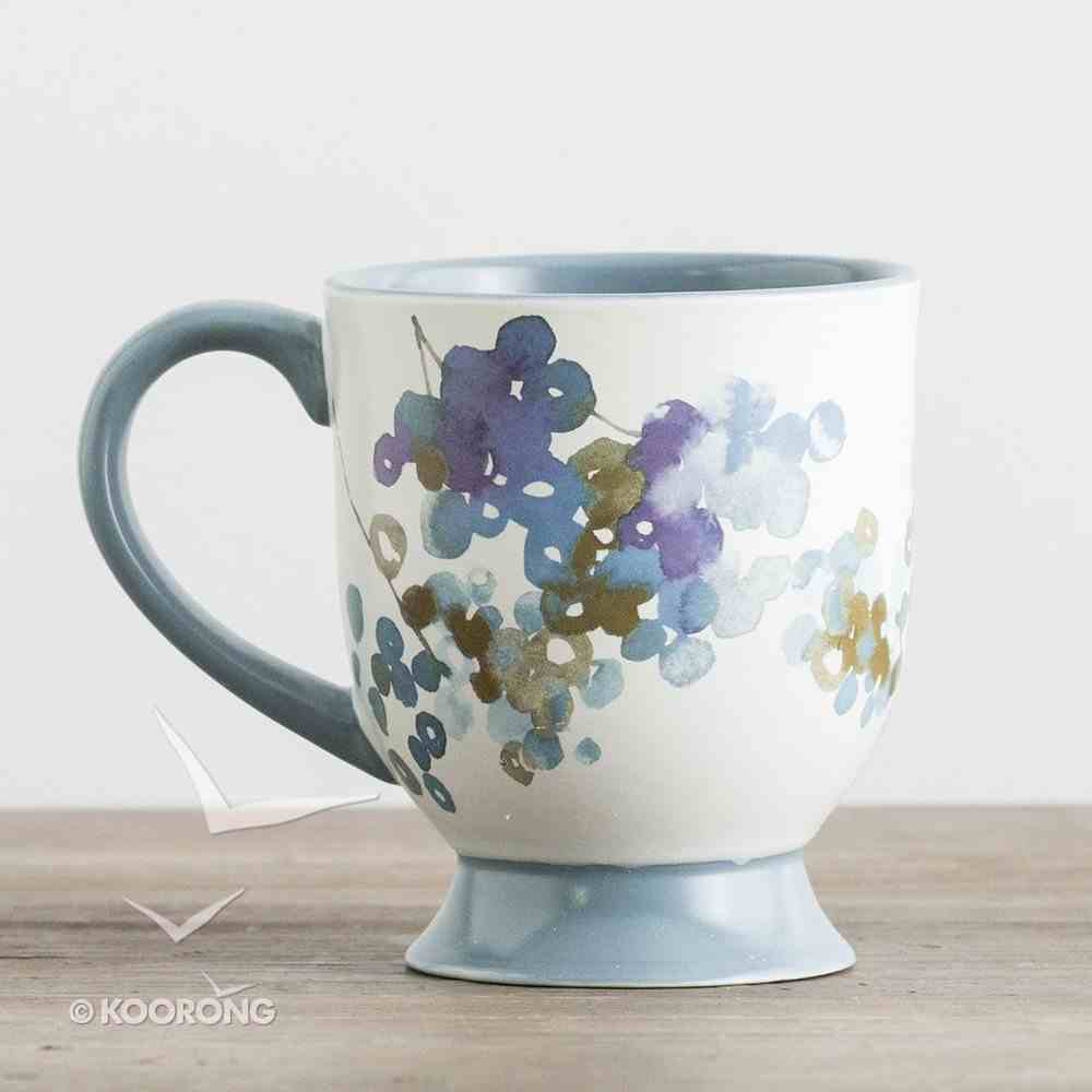 Ceramic Pedestal Mug: I Can Do All Things Through Christ, Blue (Phil 4:13 KJV) ((In)courage Gift Product Series) Homeware