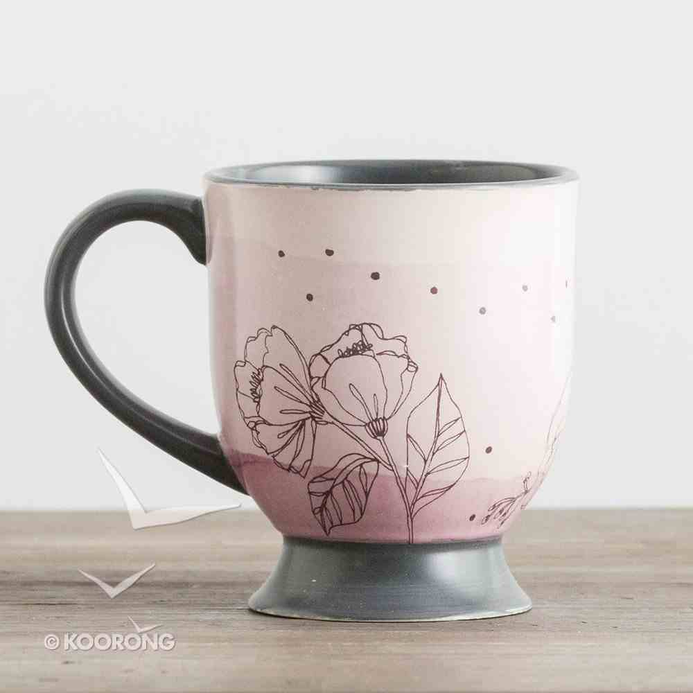 Ceramic Pedestal Mug: The Struggle is Real, But So is Our God, Pink ((In)courage Gift Product Series) Homeware