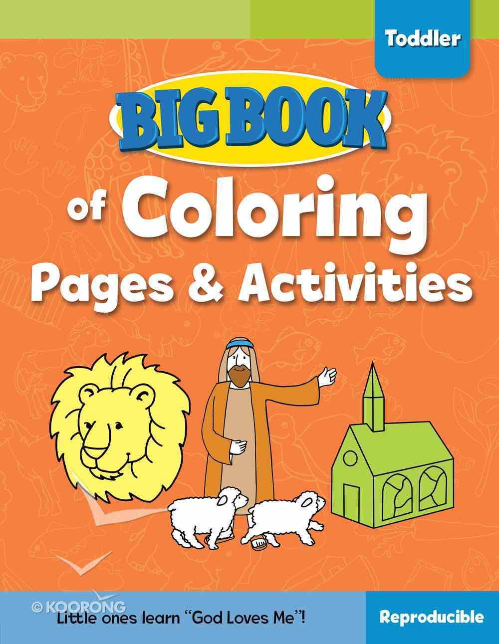 Big Book of Coloring Pages and Activities For Toddlers (Reproducible) Paperback