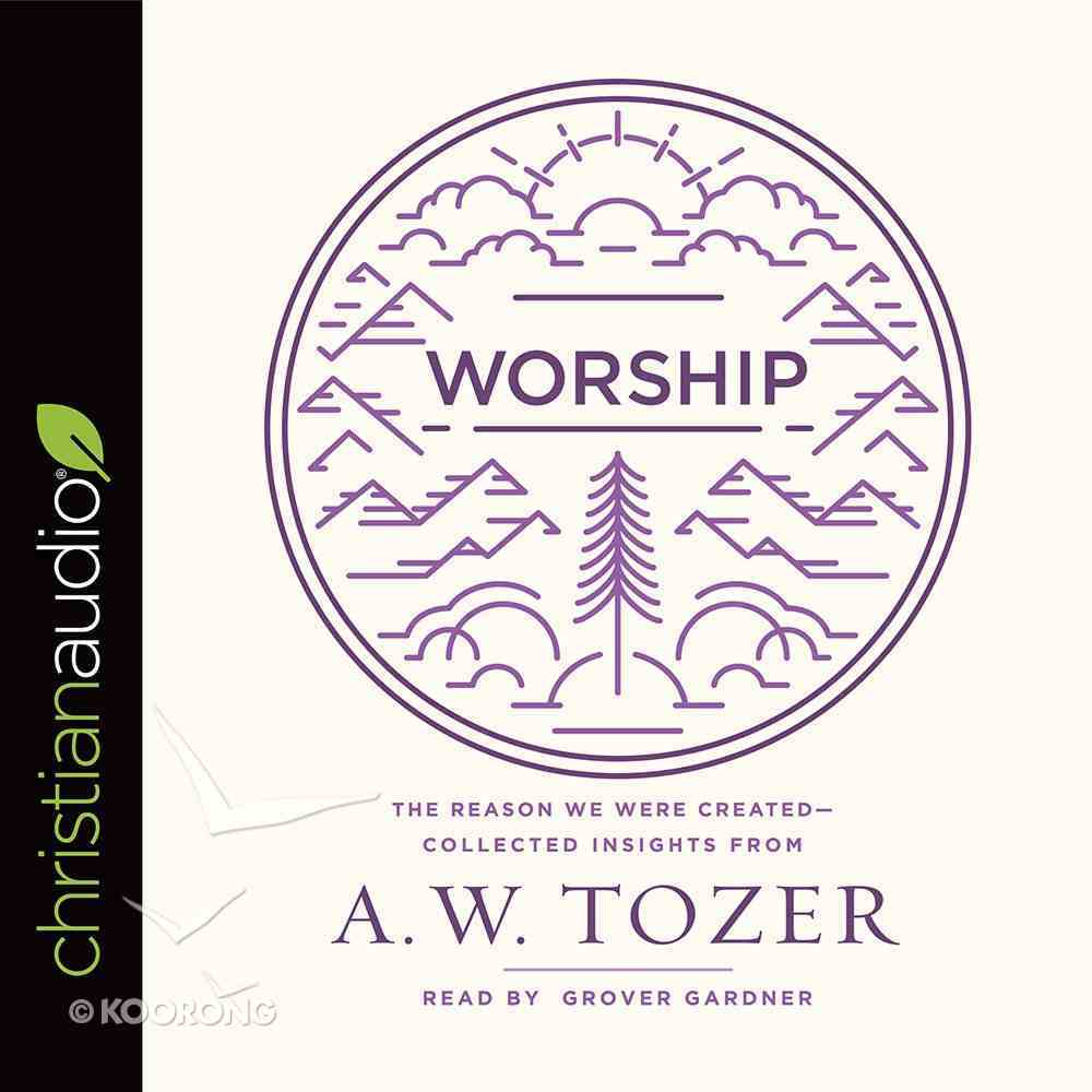 Worship: The Reason We Were Created-Collected Insights From A. W. Tozer (Unabridged, 4 Cds) CD