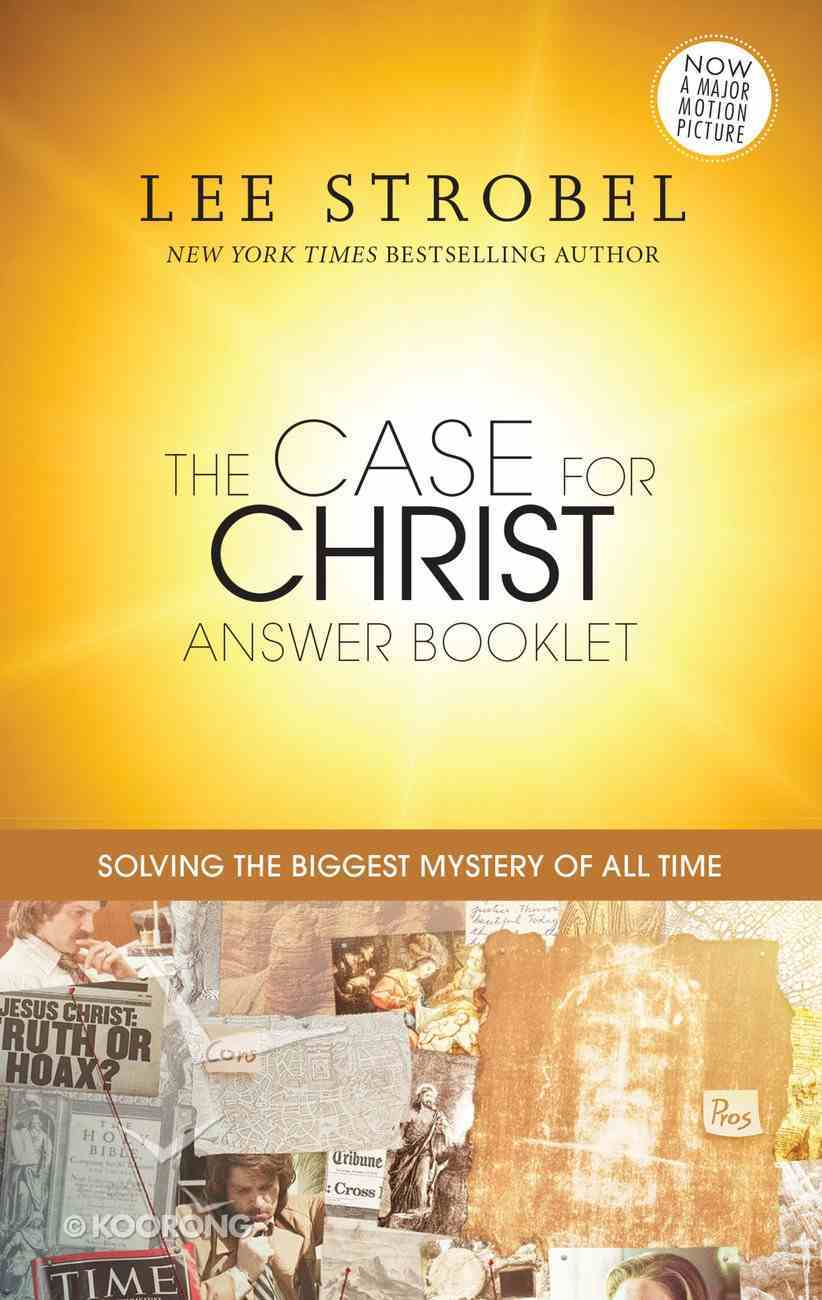 The Case For Christ Answer Booklet eBook