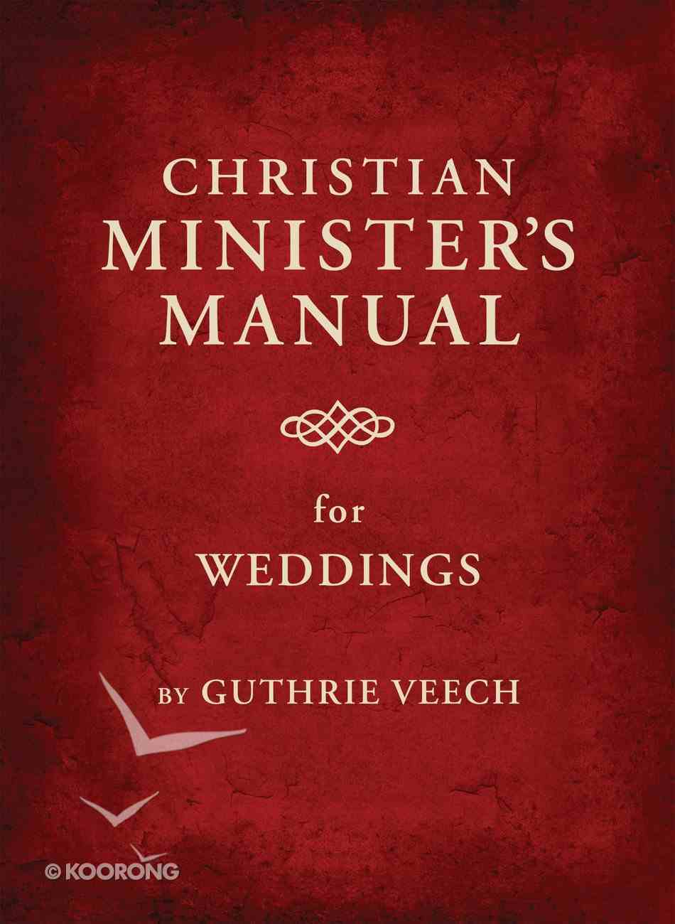 Christian Minister's Manual For Weddings eBook