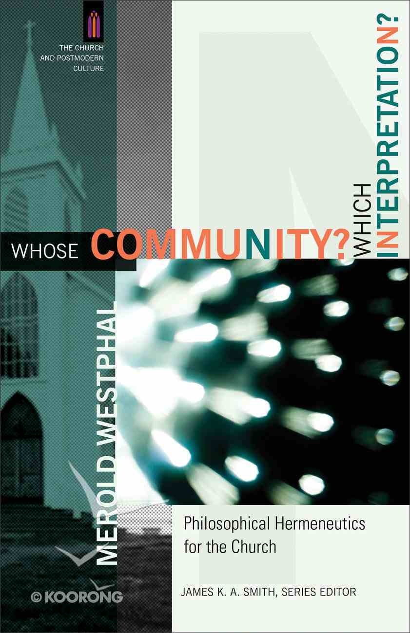 Whose Community? Which Interpretation? eBook
