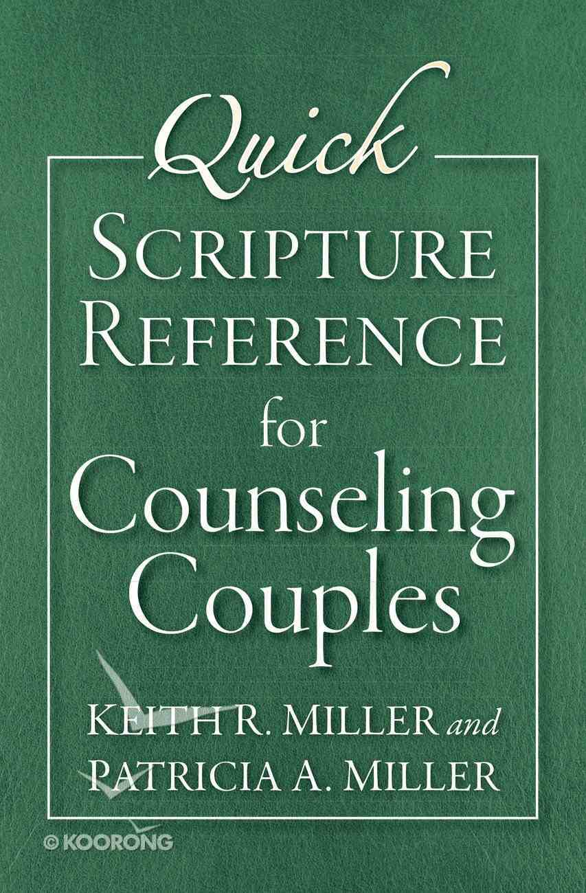 Quick Scripture Reference For Counseling Couples eBook