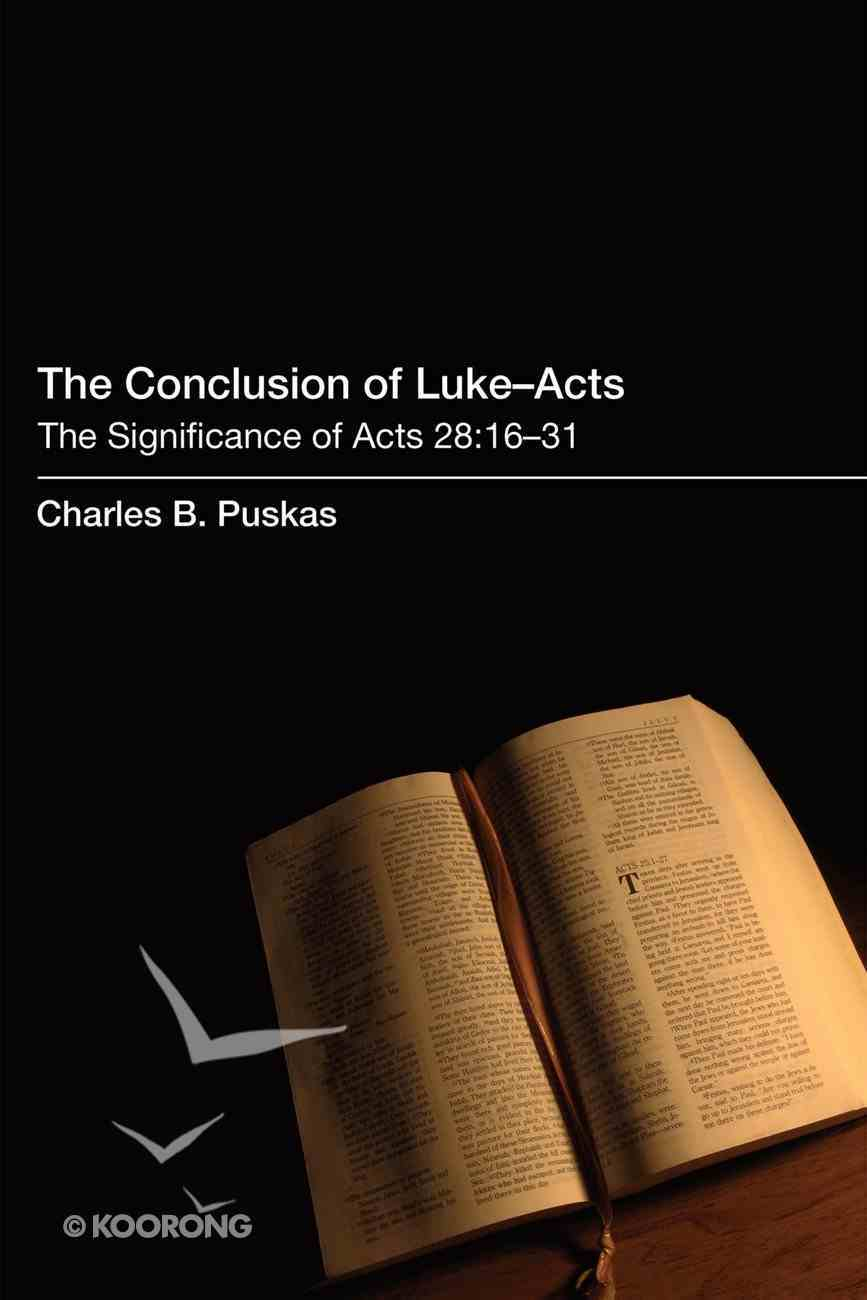 The Conclusion of Luke-Acts eBook