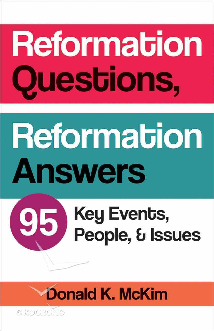 Reformation Questions, Reformation Answers eBook