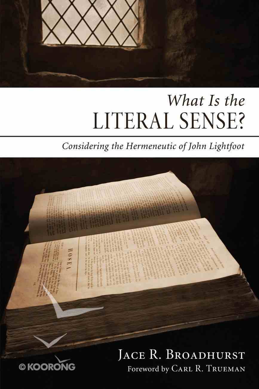 What is the Literal Sense? eBook
