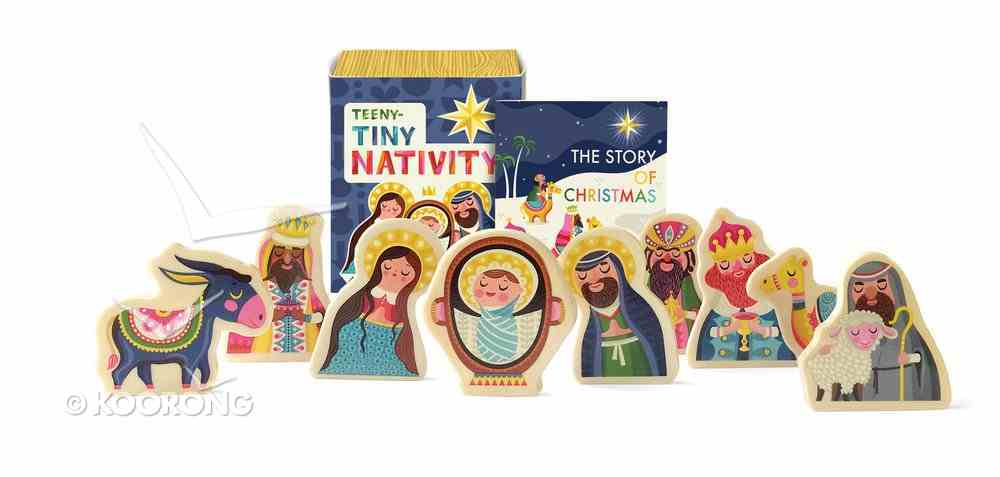 Teeny-Tiny Nativity Mini Book & Wooden Figures Box